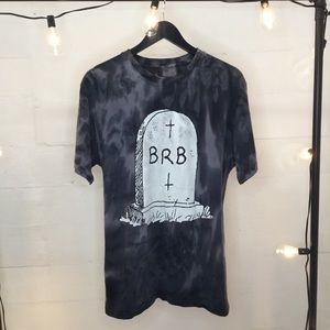 Be Right Back Black Matter Tshirt Mens Sz Large